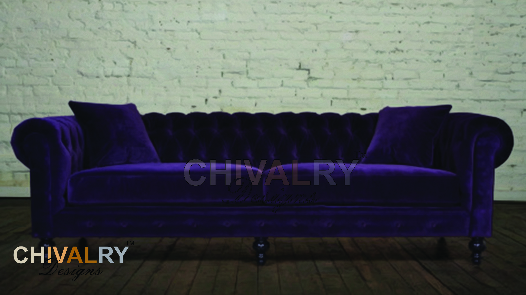 Chesterfield 3 Seater Extra Length Chivalry Designs